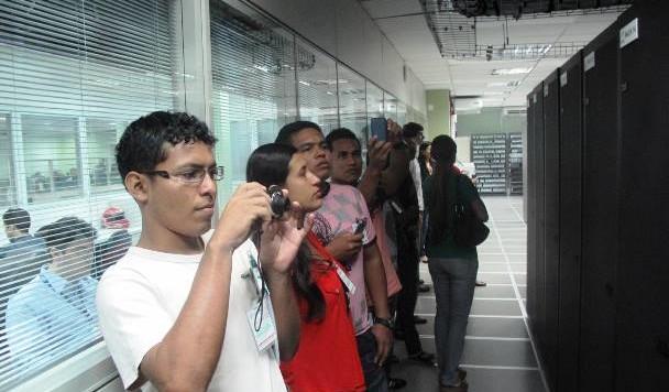 Estudantes de Tabatinga conhecem Datacenter