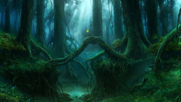 gothic-forest-trees-fantasy-river-mood-wallpaper-1