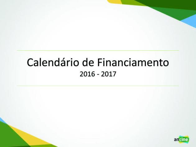 MN - ANCINE CALENDÁRIO